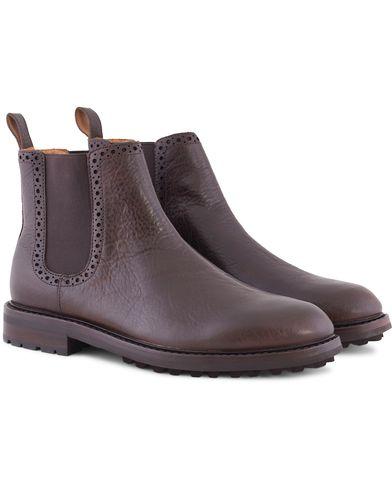 Polo Ralph Lauren Numan Chelsea Boot Dark Brown i gruppen Sko / Støvler / Chelsea boots hos Care of Carl (13213811r)