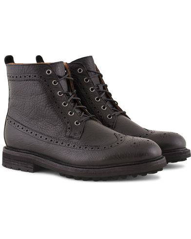 Polo Ralph Lauren Nickson Brogue Boot Black i gruppen Sko / Støvler / Snørestøvler hos Care of Carl (13213911r)