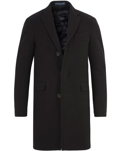 Polo Ralph Lauren Clothing Solid Melton Wool Top Coat Black i gruppen Klær / Jakker / Vinterjakker hos Care of Carl (13214111r)