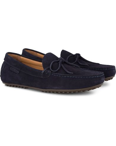 Polo Ralph Lauren Woodford Carshoes Navy Suede i gruppen Sko / Bilsko hos Care of Carl (13214211r)