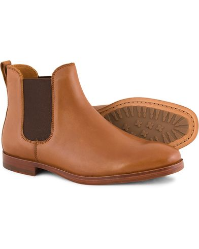 Polo Ralph Lauren Dillian 2 Chelsea Boot Polo Tan Calf i gruppen Sko / Støvler / Chelsea boots hos Care of Carl (13214611r)