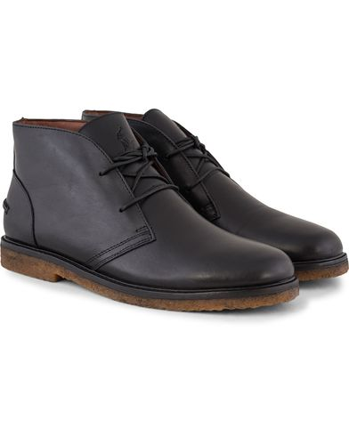 Polo Ralph Lauren Marlow Chukka Boot Black Leather i gruppen Skor / Kängor / Chukka boots hos Care of Carl (13214911r)