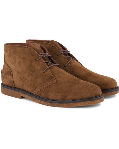 Polo Ralph Lauren Marlow Chukka Boot Dark Snuff Suede i gruppen Skor / Kängor / Chukka boots hos Care of Carl (13215011r)