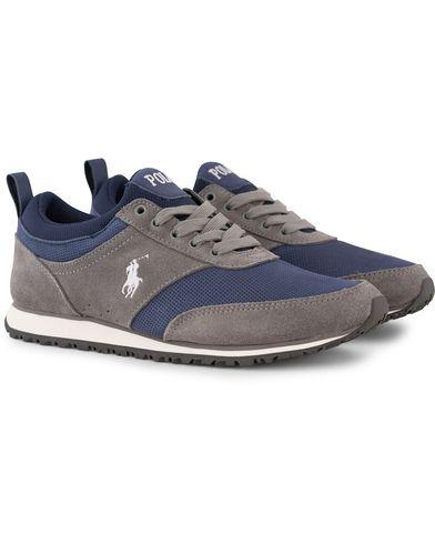 Polo Ralph Lauren Ponteland Sneaker Museum Grey/Newport Navy i gruppen Skor / Sneakers / Running sneakers hos Care of Carl (13216411r)