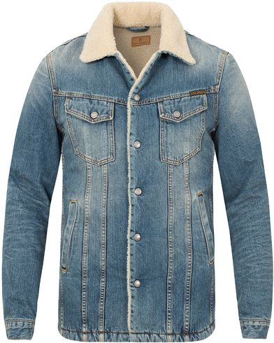 Nudie Jeans Lenny Tangerine Jacket Denim Blue i gruppen Jackor / Tunna Jackor hos Care of Carl (13217111r)