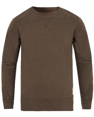 Nudie Jeans Sven Light Sweatshirt Bunker Green i gruppen Gensere / Sweatshirts hos Care of Carl (13217411r)
