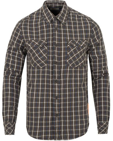 Nudie Jeans Gunnar Rope Twill Check Shirt Bunker Green i gruppen Kläder / Skjortor / Casual skjortor hos Care of Carl (13218111r)