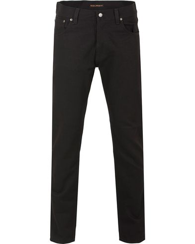 Nudie Jeans Steady Eddie Organic Regular Fit Jeans Dry Black i gruppen Jeans / Avsmalnende Jeans hos Care of Carl (13218411r)