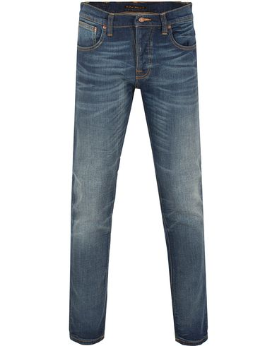 Nudie Jeans Grim Tim Organic Slim Fit Stretch Jeans Dark Crispy i gruppen Jeans / Smale Jeans hos Care of Carl (13218911r)