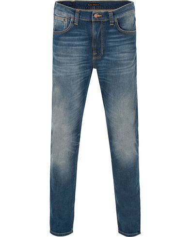 Nudie Jeans Lean Dean Organic Slim Fit Stretch Jeans Indigo i gruppen Jeans / Smala Jeans hos Care of Carl (13219811r)