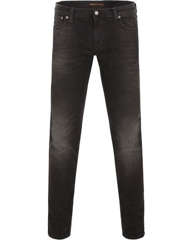 Nudie Jeans Long John Organic Slim Fit Stretch Jeans Black i gruppen Klær / Jeans / Smale jeans hos Care of Carl (13219911r)