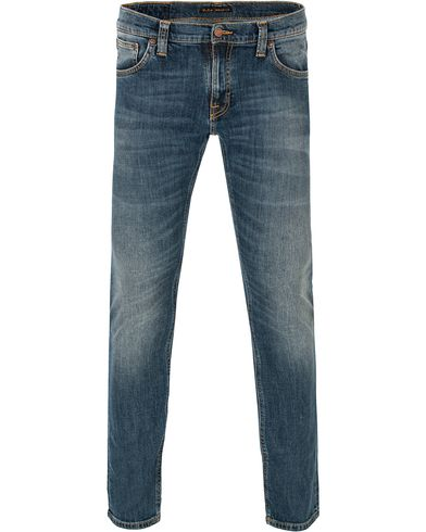 Nudie Jeans Long John Organic Slim Fit Stretch Jeans Indian i gruppen Klær / Jeans / Smale jeans hos Care of Carl (13220111r)