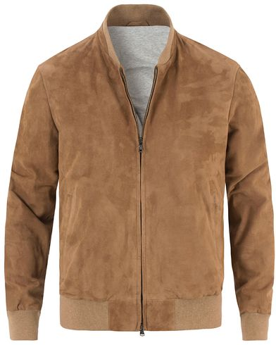 Hackett Mayfair Suede Bomber Camel i gruppen Jakker / Skinnjakker hos Care of Carl (13220411r)