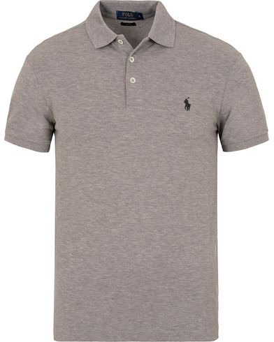 Polo Ralph Lauren Slim Fit Stretch Polo Andover Heather i gruppen Pikéer / Kortermet piké hos Care of Carl (13221211r)