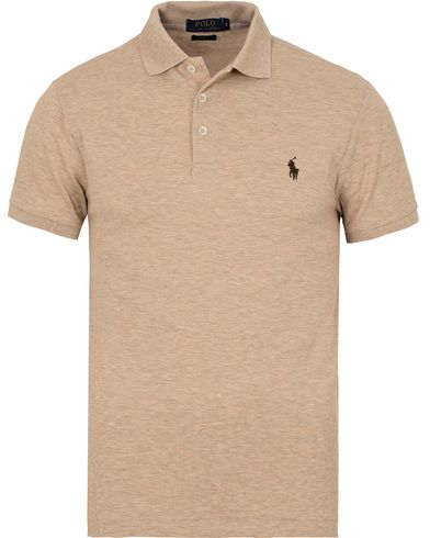 Polo Ralph Lauren Slim Fit Stretch Polo Expedition Dune Heather i gruppen Kläder / Pikéer / Kortärmade pikéer hos Care of Carl (13221311r)