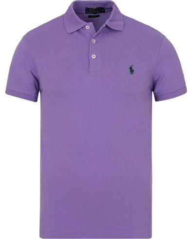 Polo Ralph Lauren Slim Fit Stretch Polo Charter Purple i gruppen Klær / Pikéer / Kortermet piké hos Care of Carl (13221411r)