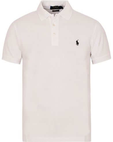 Polo Ralph Lauren Slim Fit Stretch Polo White i gruppen Klær / Pikéer / Kortermet piké hos Care of Carl (13221511r)