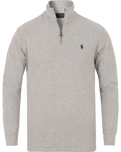 Polo Ralph Lauren Half Zip Brushed Touch Sweater Andover Heather i gruppen Klær / Gensere / Zip-gensere hos Care of Carl (13221911r)
