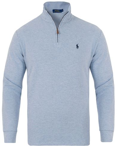 Polo Ralph Lauren Half Zip Brushed Touch Sweater Jamaica Heather i gruppen Tröjor / Zip-tröjor hos Care of Carl (13222011r)
