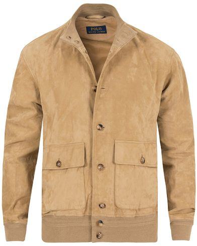 Polo Ralph Lauren Suede Skeet Jacket Light Honey i gruppen Jackor / Skinnjackor hos Care of Carl (13222411r)