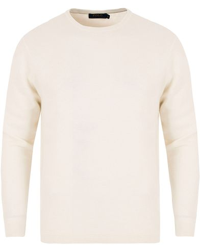 Polo Ralph Lauren Knitted Cashmere Sweater White i gruppen Klær / Gensere / Strikkede gensere hos Care of Carl (13222611r)