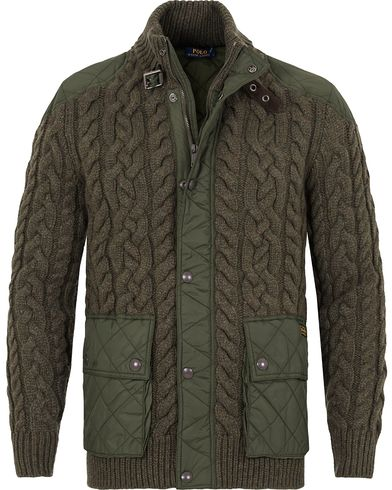 Polo Ralph Lauren Hyprid Wool Jacket Olive Green i gruppen Tr�jor / Cardigans hos Care of Carl (13222811r)