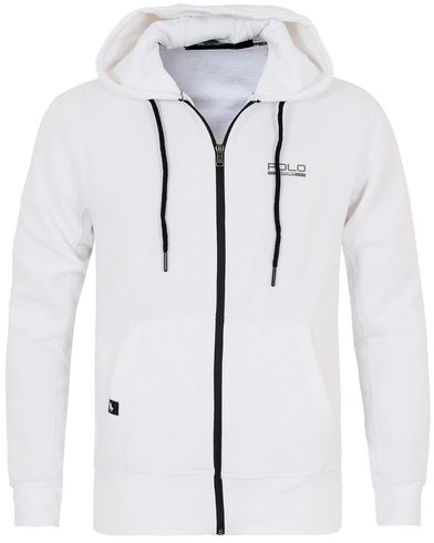 Polo Sport Ralph Lauren Full Zip Hoodie Pure White i gruppen Gensere / Hettegensere hos Care of Carl (13223511r)