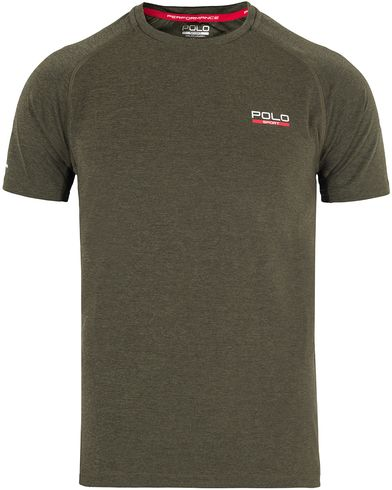 Polo Sport Ralph Lauren Performance Tee Alphine Heather Green i gruppen Klær / T-Shirts / Kortermede t-shirts hos Care of Carl (13225311r)