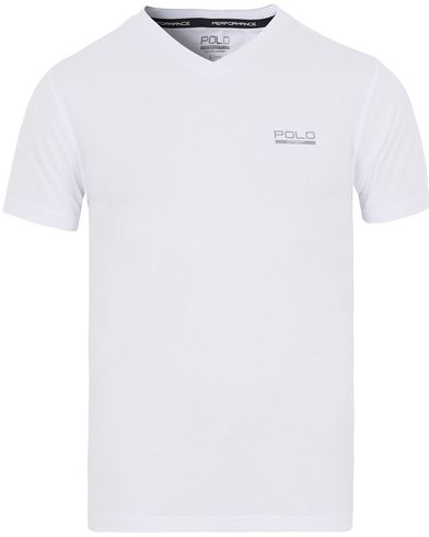 Polo Sport Ralph Lauren V-Neck Tee Pure White i gruppen Kläder / T-Shirts / Kortärmade t-shirts hos Care of Carl (13225611r)