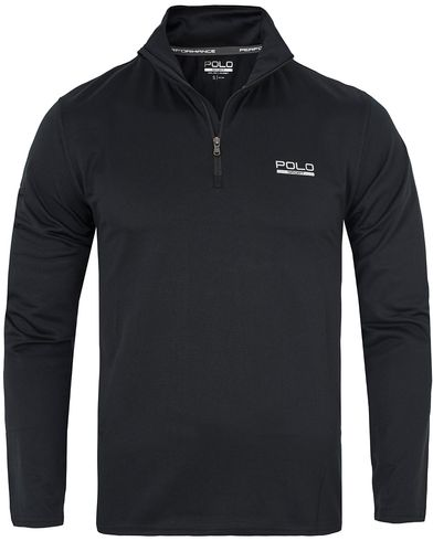 Polo Sport Ralph Lauren Performance Track Stretch Sweater Polo Black i gruppen Tröjor / Zip-tröjor hos Care of Carl (13226111r)