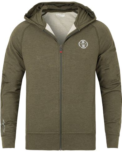 Polo Sport Ralph Lauren Full Zip Hoodie Alphine Heather Green i gruppen Tröjor / Huvtröjor hos Care of Carl (13228211r)