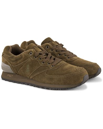 Polo Sport Ralph Lauren Slaton Pony Running Sneaker Deep Olive Green i gruppen Sko / Sneakers hos Care of Carl (13229611r)