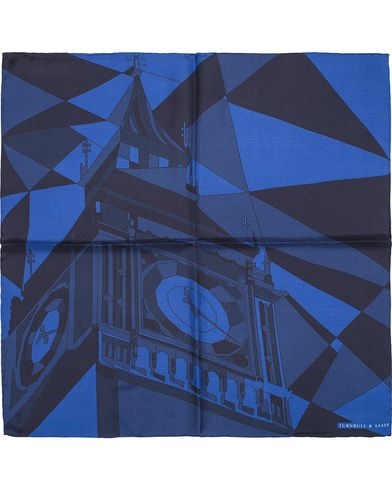 Turnbull & Asser Big Ben Silk Handkerchief Dark Blue  i gruppen Accessoarer / Näsdukar hos Care of Carl (13229910)