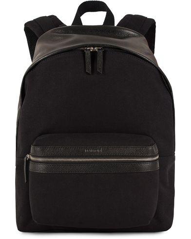 Baron Backpack Black Canvas/Leather  i gruppen Assesoarer / Vesker / Ryggsekker hos Care of Carl (13231410)
