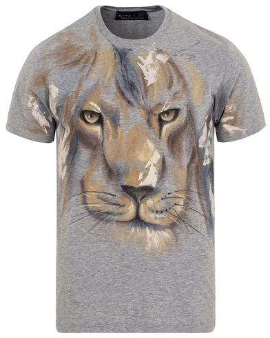 Etro Hand Painted Lion Tee Light Grey i gruppen T-Shirts / Kortärmade t-shirts hos Care of Carl (13232411r)