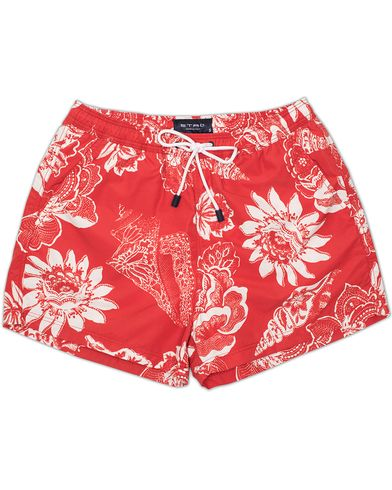 Etro Bermuda Swimtrunk Red i gruppen Badeshorts hos Care of Carl (13232911r)
