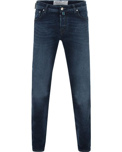 Jacob Cohën 622 Slim Jeans Dark Blue/Grey Label i gruppen Kläder / Jeans / Smala jeans hos Care of Carl (13233311r)