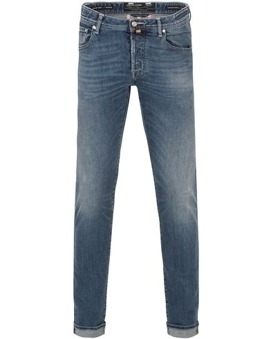 Jacob Cohën 622 Limited Luxury Slim Jeans  Light Blue/White Label i gruppen Jeans / Smale jeans hos Care of Carl (13233411r)