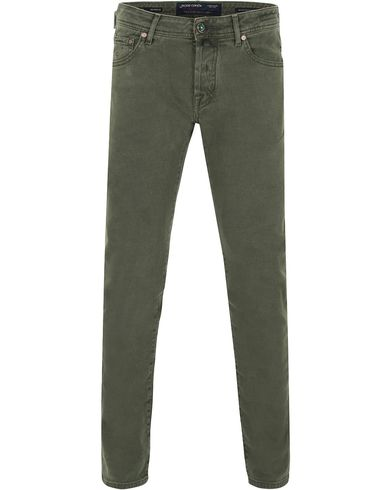 Jacob Cohën 622 Slim 5-Pocket Pants Olive Green i gruppen Bukser / 5-lommersbukser hos Care of Carl (13233611r)