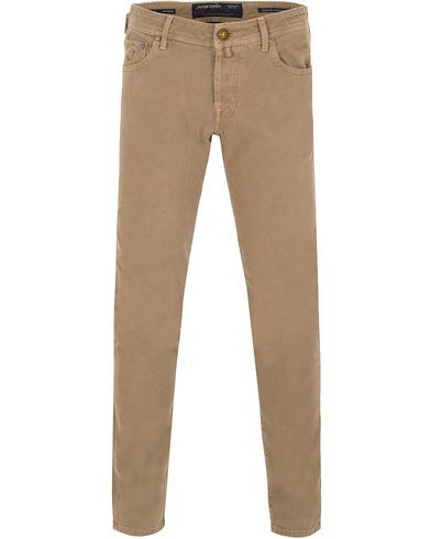 Jacob Cohën 622 Slim 5-Pocket Pants Khaki Beige i gruppen Kläder / Byxor / 5-ficksbyxor hos Care of Carl (13233711r)