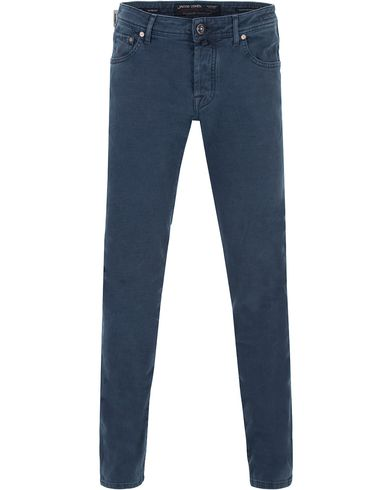 Jacob Coh�n 622 Slim 5-Pocket Pants Navy i gruppen Byxor / Uddabyxor hos Care of Carl (13233911r)