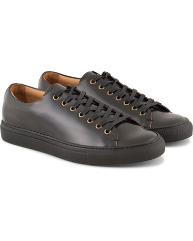Buttero Sneaker Nero Black Calf i gruppen Sko / Sneakers / Sneakers med lavt skaft hos Care of Carl (13234711r)