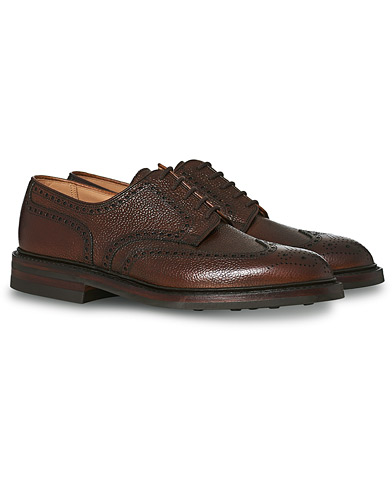 Crockett & Jones Pembroke Derbys Dark Brown Grained Calf i gruppen Skor / Brogues hos Care of Carl (13235111r)
