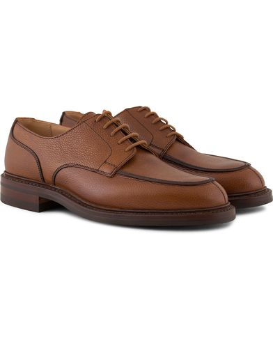 Crockett & Jones Durham Split Toe Derbys Tan Grained Calf i gruppen Skor hos Care of Carl (13235211r)