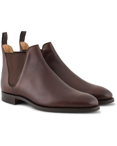Crockett & Jones MTO Chelsea 8 City Sole Brown Grain Calf i gruppen Sko / Støvler / Chelsea boots hos Care of Carl (13235611r)