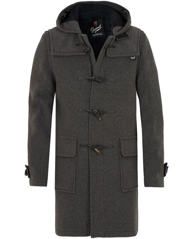 Gloverall Morris Duffel Coat Grey/Blackwatch i gruppen Kläder / Jackor / Vinterjackor hos Care of Carl (13235911r)