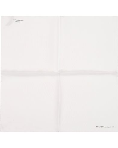 Turnbull & Asser Silk Handkerchief White  i gruppen Accessoarer / Näsdukar hos Care of Carl (13237010)