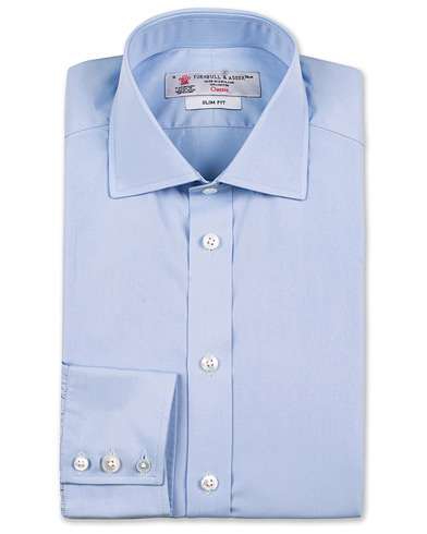 Turnbull & Asser Slim Fit Poplin Shirt Light Blue i gruppen Skjortor / Businesskjortor hos Care of Carl (13237211r)