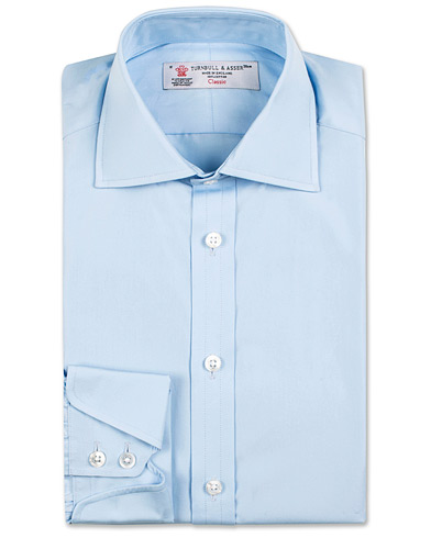 Turnbull & Asser Standard Fit Doctor No Shirt Light Blue i gruppen Skjorter / Formelle skjorter hos Care of Carl (13237311r)