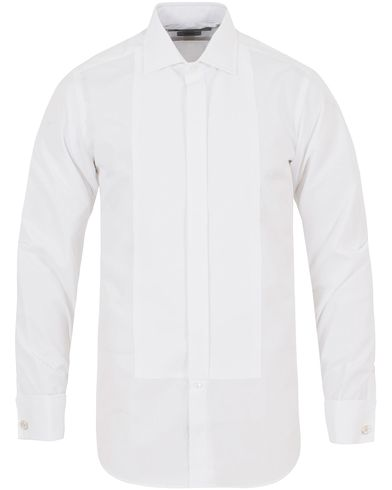 Turnbull & Asser Slim Fit Tuxedo Shirt White i gruppen Skjorter / Smokingskjorter hos Care of Carl (13237511r)